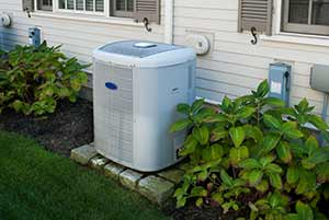 Air conditioner repair in Sea Girt can be avoided by keeping your condenser as well maintened as this one with bushes trimmed well away from the unit